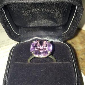Tiffany & Co. 7.25 Carat Amethyst Ring, sz6 AUTH